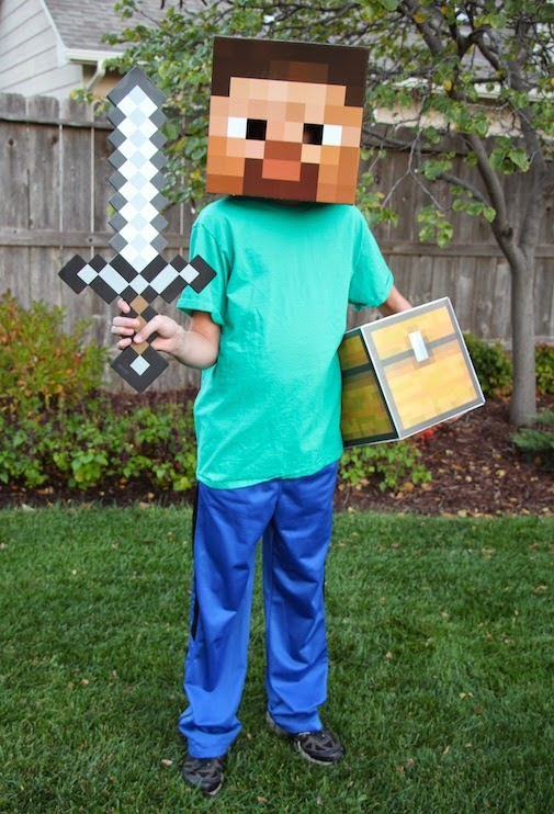 project denneler minecraft steve costume
