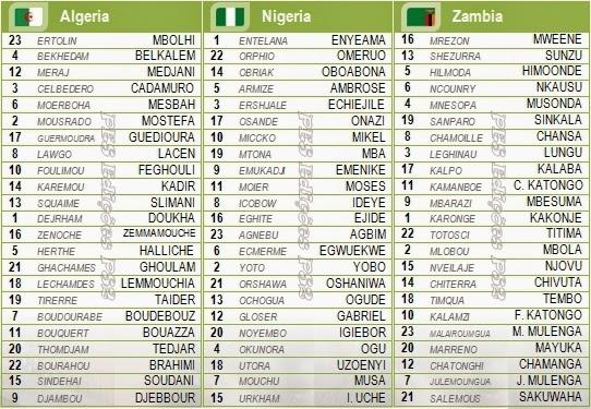 Nomes corretos jogadores seleções Argélia, Nigéria e Zâmbia PES 2014 PS2