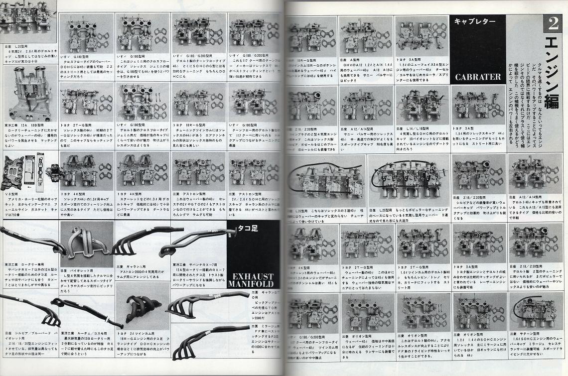 broszura, tuning, japońskie, JDM, unikalne, oryginalne, silnik, kolektor, części, engine