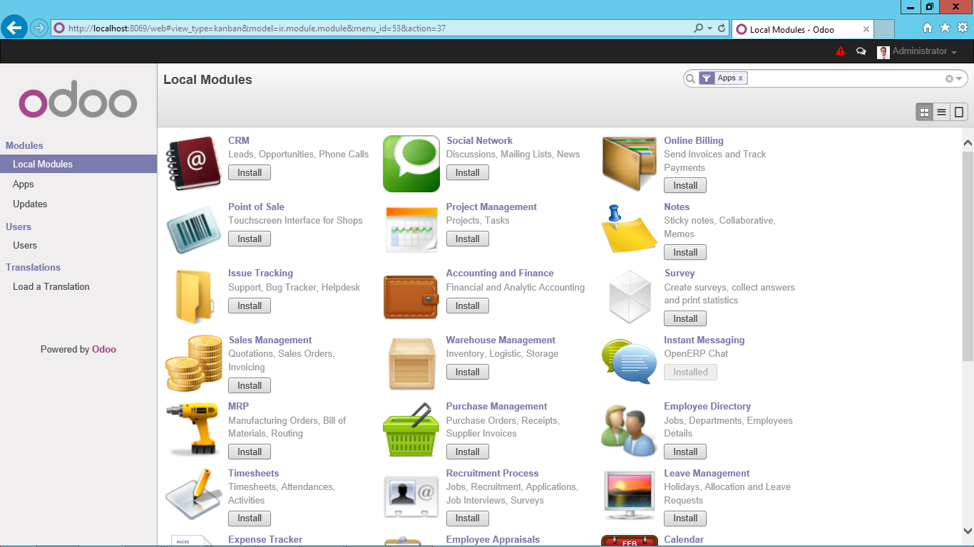 Free ERP, CRM, Project Management ... by Odoo Open Source Solutions ...