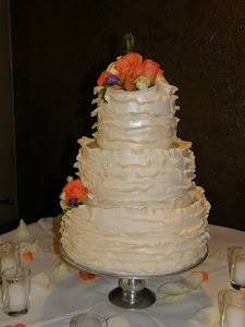 3-tier cake with fondant frills