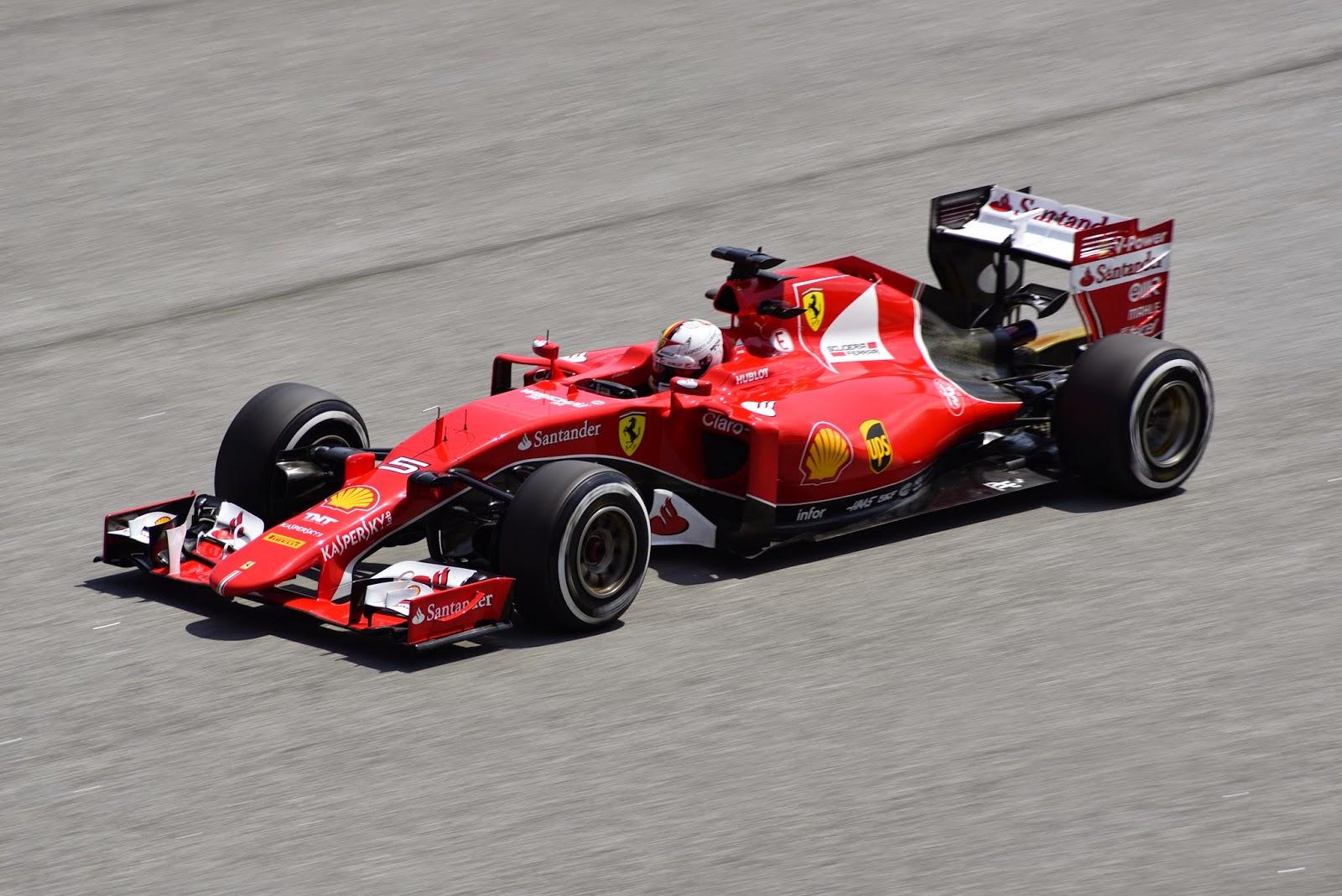 Sebastian Vettel FP2 Driving WIth Ferrari