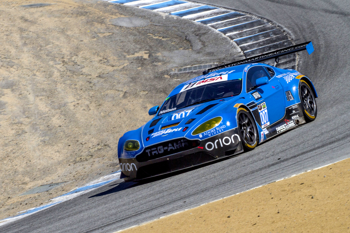 Trg amr is heading back to the motor city this time with christina nielsen piloting a pair of potent royal purple orion lasalle passtime usa aston martin