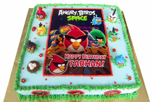 Birthday Cake Angry Birds