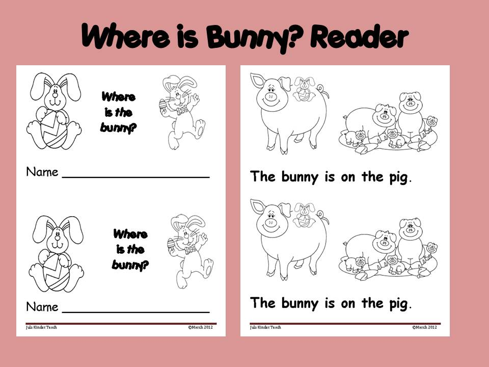Juls Kinder Teach Zone: Emergent Readers/ Printable Books