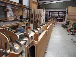 Box section mast glued up