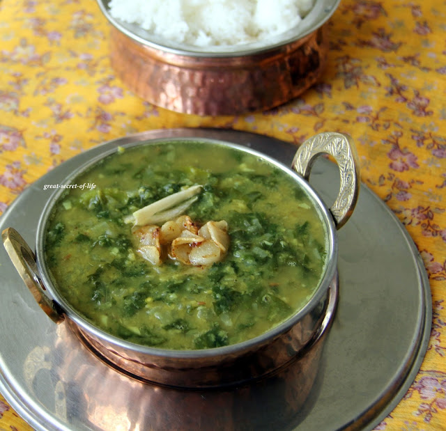 Dal Palak / Spinach with Dal / Dhal palak| Great-secret-of-life