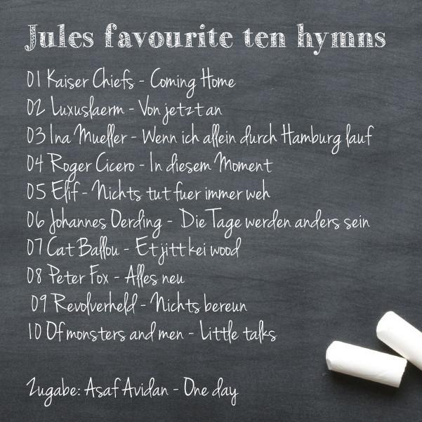 Jules fave ten hymns