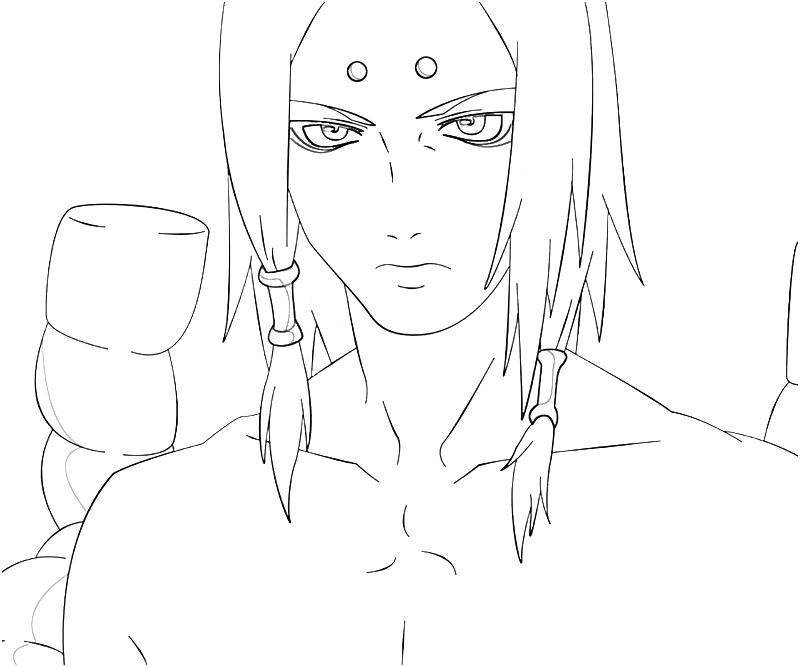 Printable Naruto Kimimaro Character Coloring Pages title=