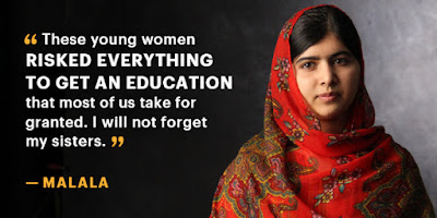 Malala scored top rank in school