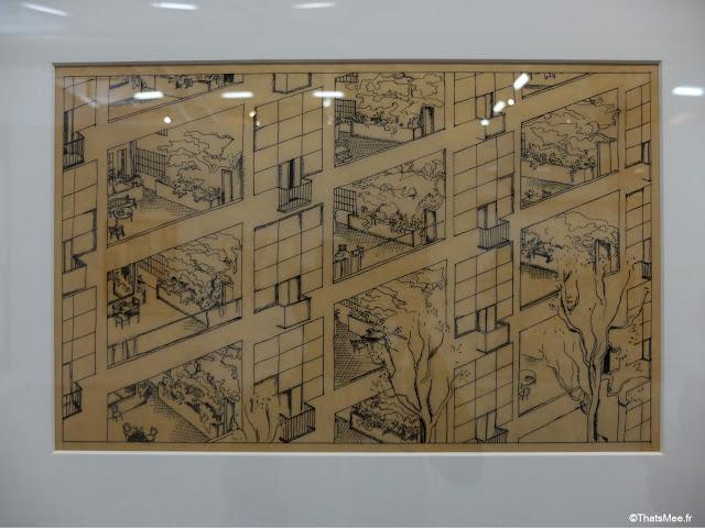 concept immeuble-Villa Le Corbusier, Expo le Corbusier Mesure de l'Homme Beaubourg centre George Pompidou architecture design urbanisme
