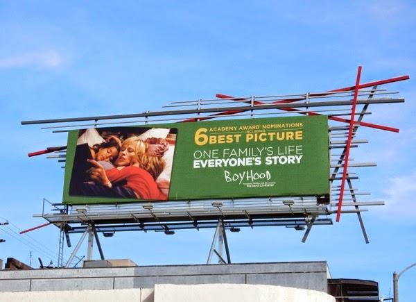 Boyhood Oscar nominee billboard