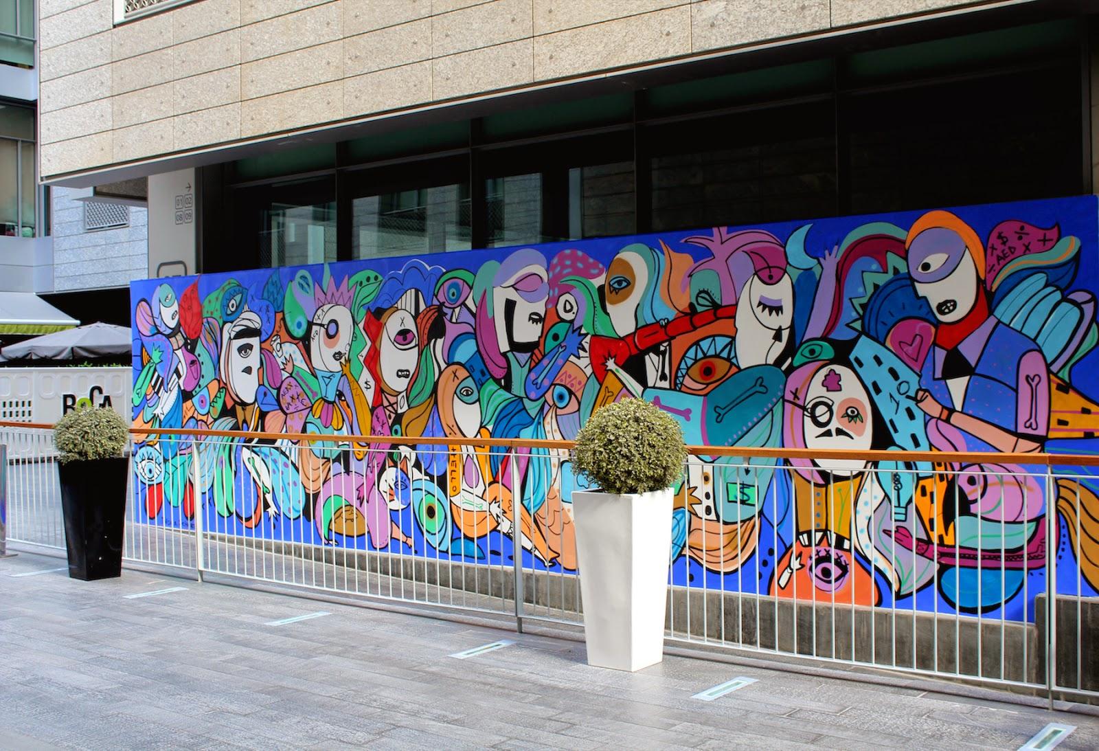 Graffiti wall uae - Difc Dubai Uae 2014
