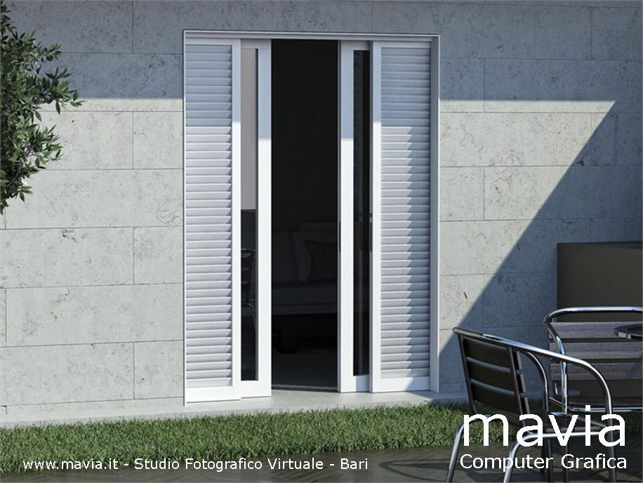 Esterni 3d rendering 3d architettura 3d infissi for Infissi esterni in alluminio prezzi