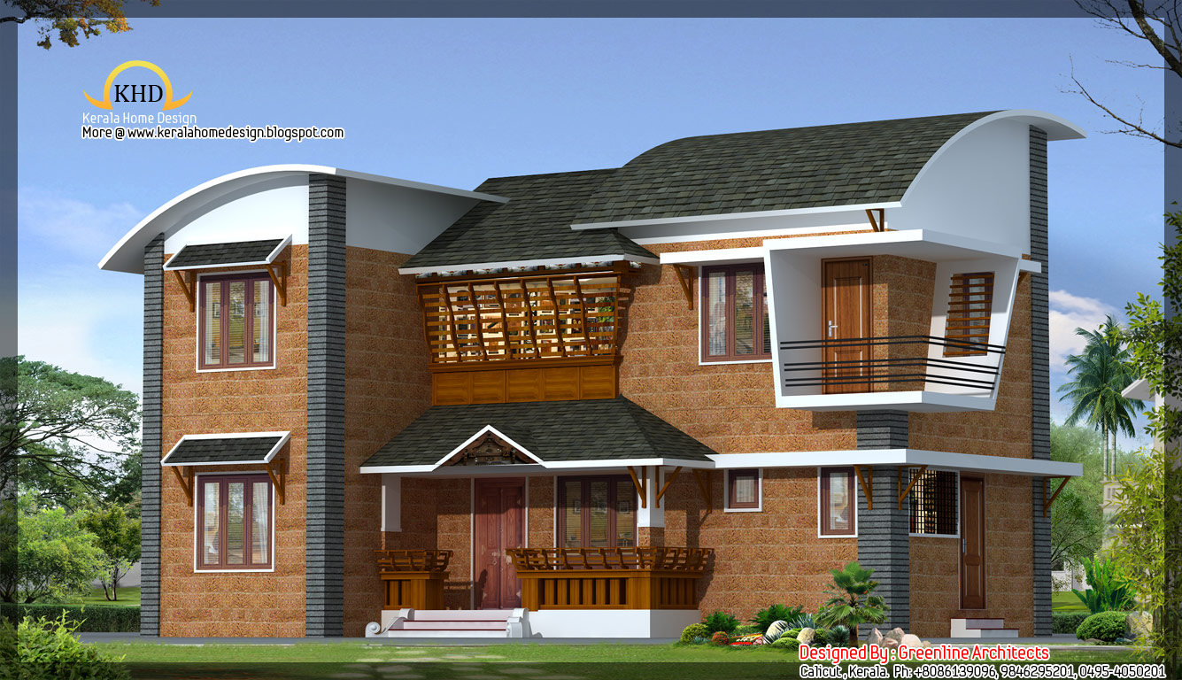 Modern villa architecture 1600 sq ft kerala home for Villa house plans