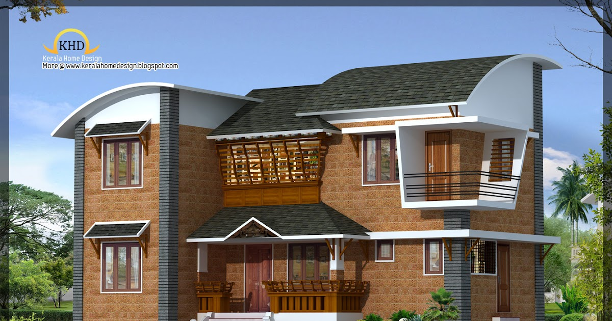 Modern villa architecture 1600 sq ft kerala home for Modern house plans for 1600 sq ft