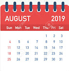 Important Days in the Month of  AUGEST - 2019