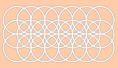 rectangle circles free paper cutting pattern