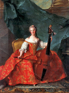 Madame Henriette tocando la Viola da Gamba, Jean-Marc Nattier