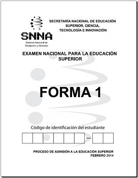 Examen SENESCYT 2014