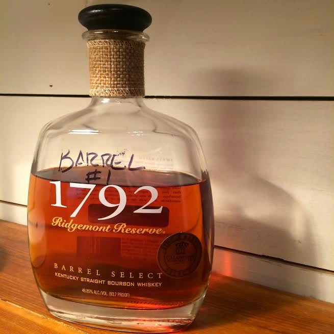 Jay's own bottle of 1792 Ridgemont Reserve