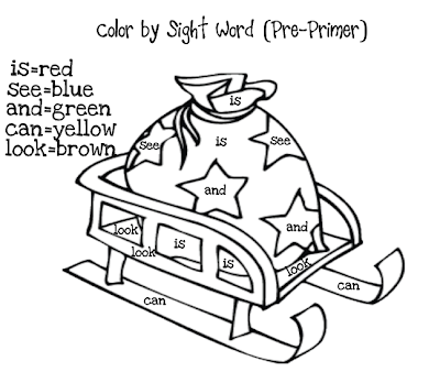 Color by  The More FREE Christmas Words free Girls: Moffatt Sight sight worksheets word christmas