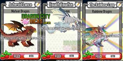 Novos Dragões - Meteoro, Justiça e Arco-Íris