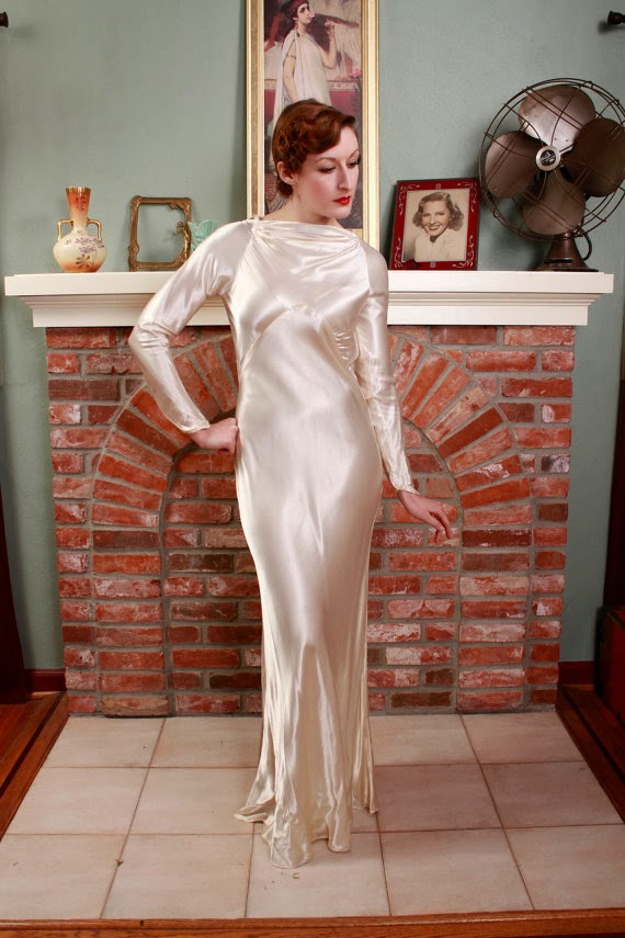 Vintage 1930s Wedding Gown: Affordable Wedding Dresses - 1930s