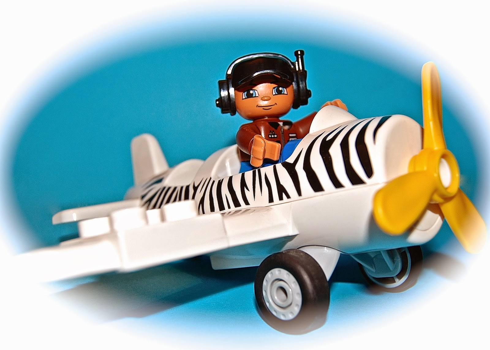 LEGO safari plane and pilot