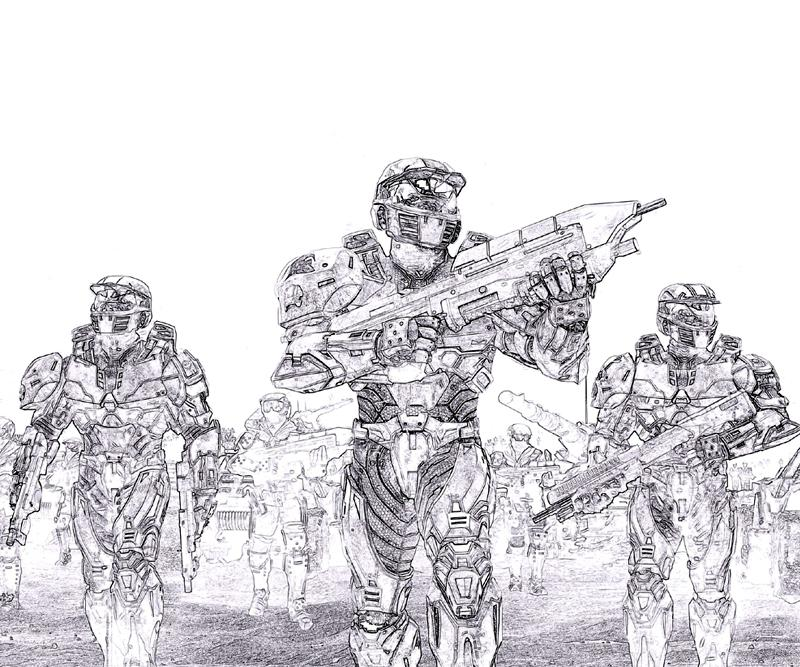Fearless Halo 3 Coloring Sheets
