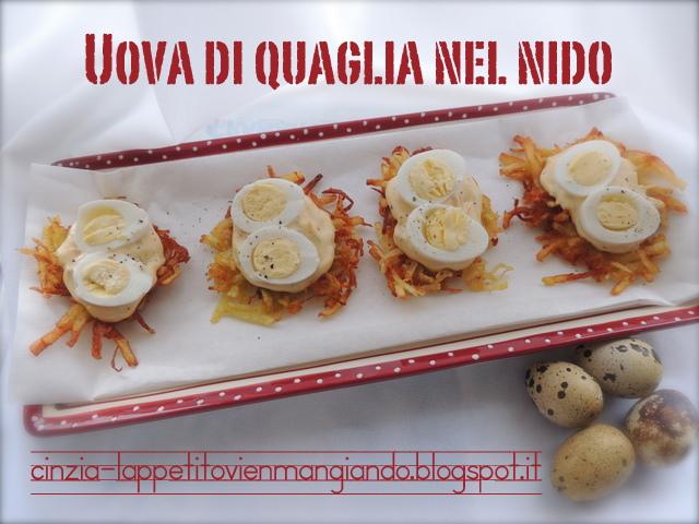 cinzia ai fornelli: uova di quaglia.. nel nido - Cucinare Uova Di Quaglia