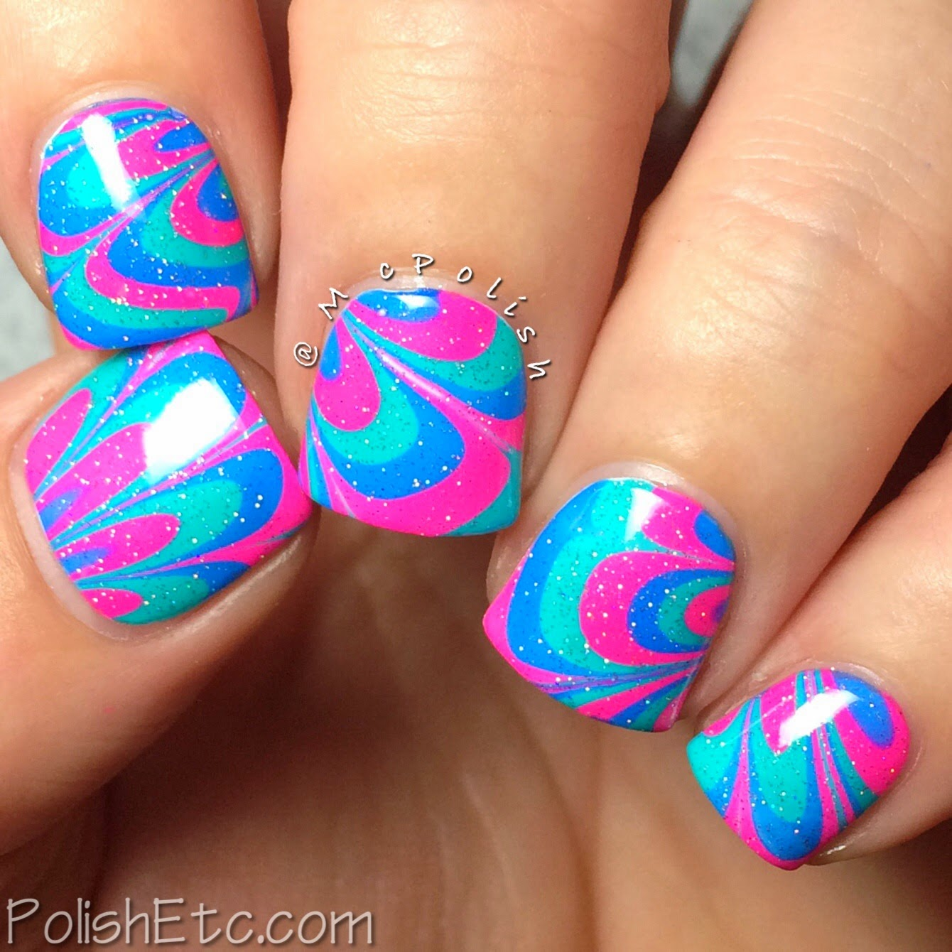 31 Day Nail Art Challenge - #31dc2014 - McPolish - WATER MARBLE