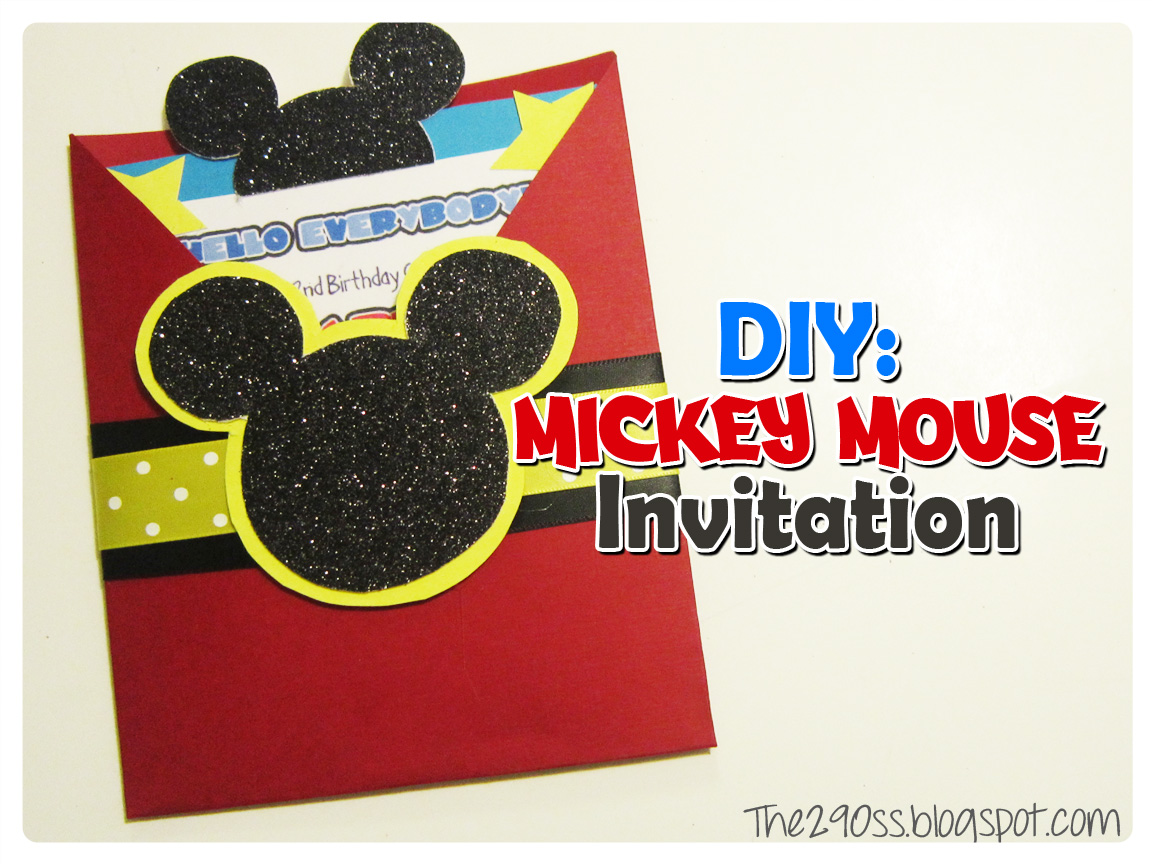 The290ss: DIY: Mickey Mouse invitation