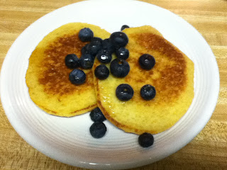 Quinoa Pancakes with Blueberries