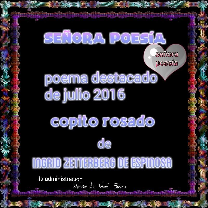 Diploma en el grupo Señora Poesía del facebook