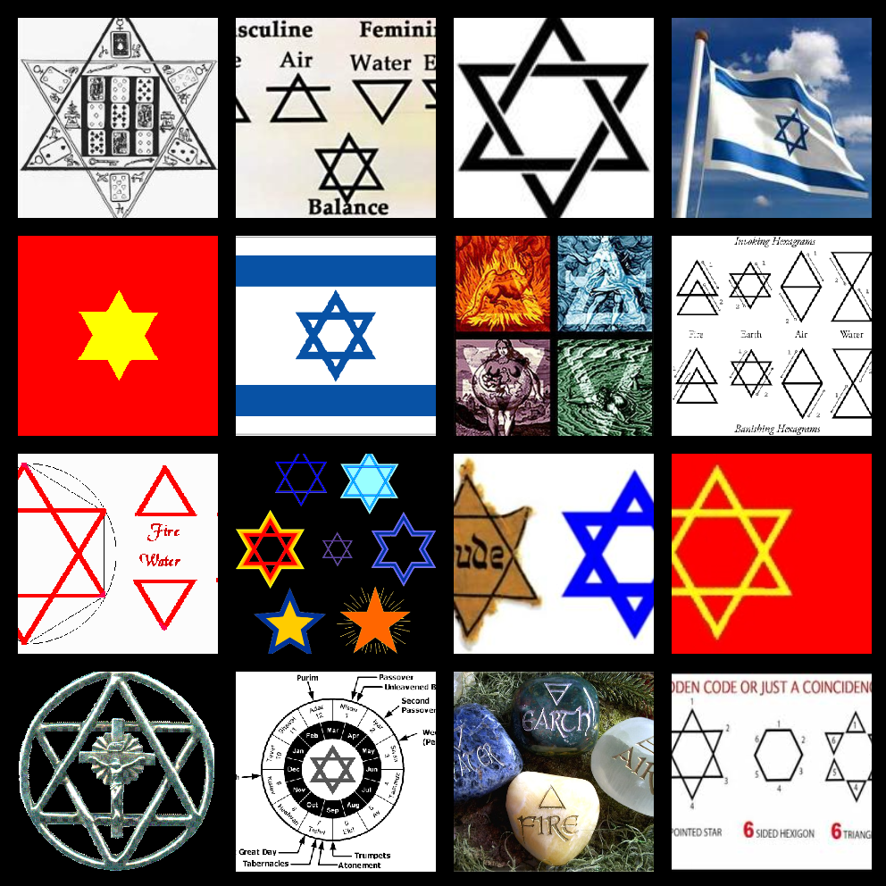 The Star Of David The Six Pointed Star Of David And The