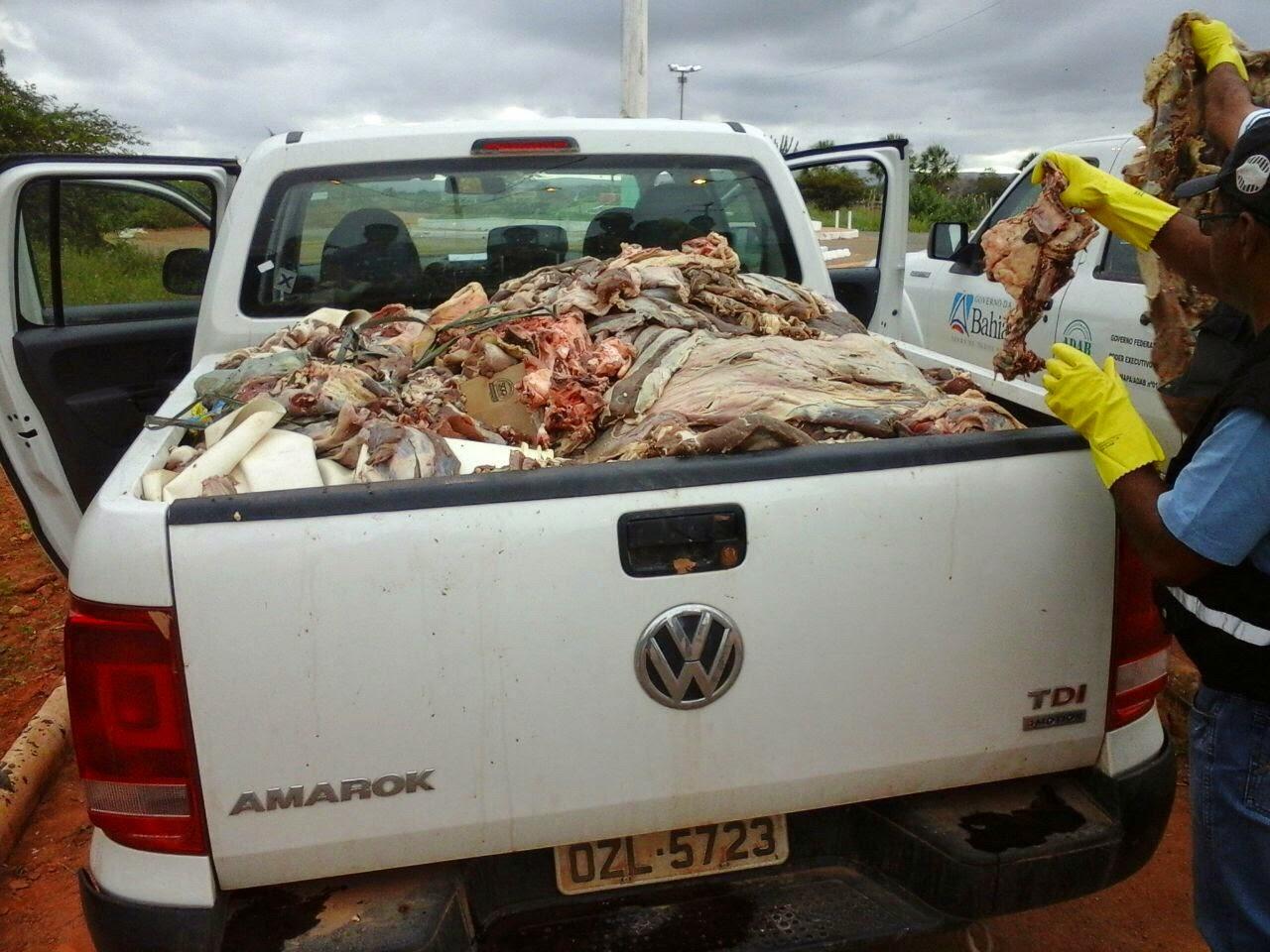 ADAB apreende carne clandestina em Ourolândia