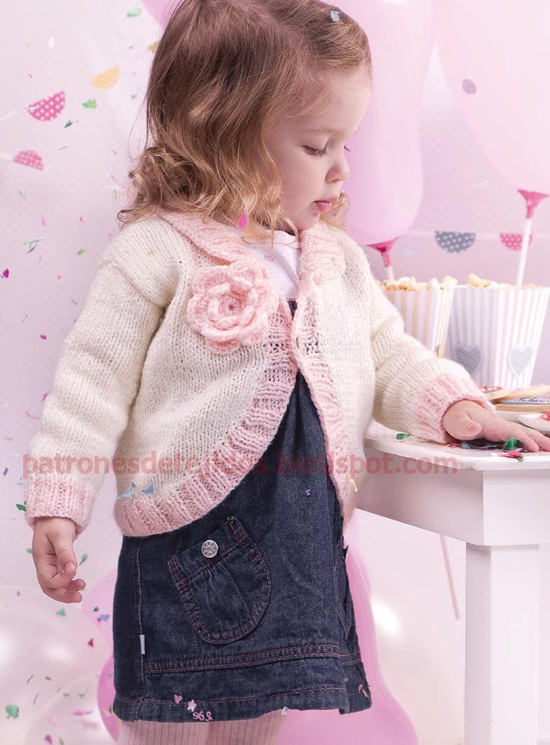 Bolero de niña | Tejiendo con Palillo y Crochet