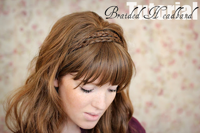 how to put hair back in a headband