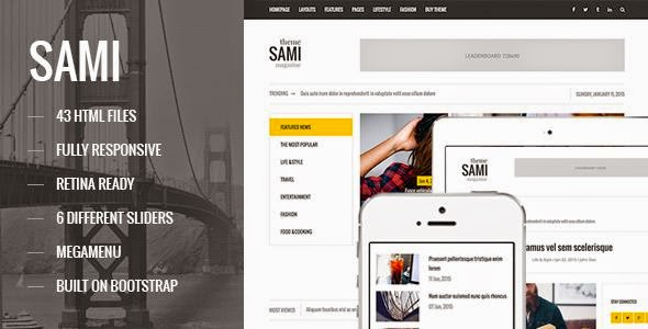 Best Responsive Magazine Blog HTML Template