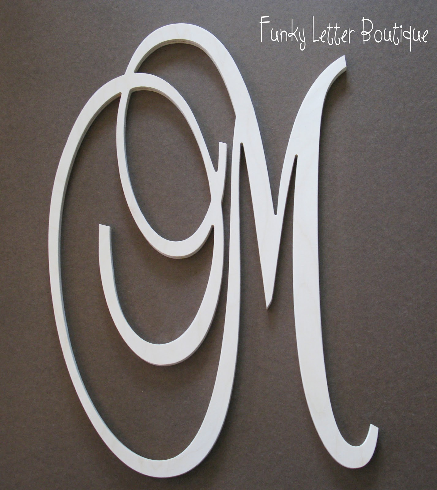 The funky letter boutique diy wooden letters and home for Monogram homes