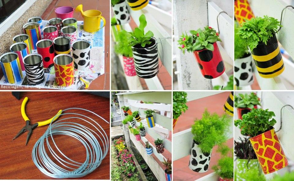 jardim vertical latas:Quer um jardim vertical? Tente fazer um com latas que iam para o lixo