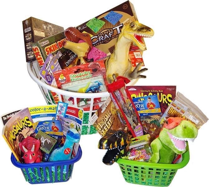Dinosaur Gift Basket These Dinosaur Themed Gift