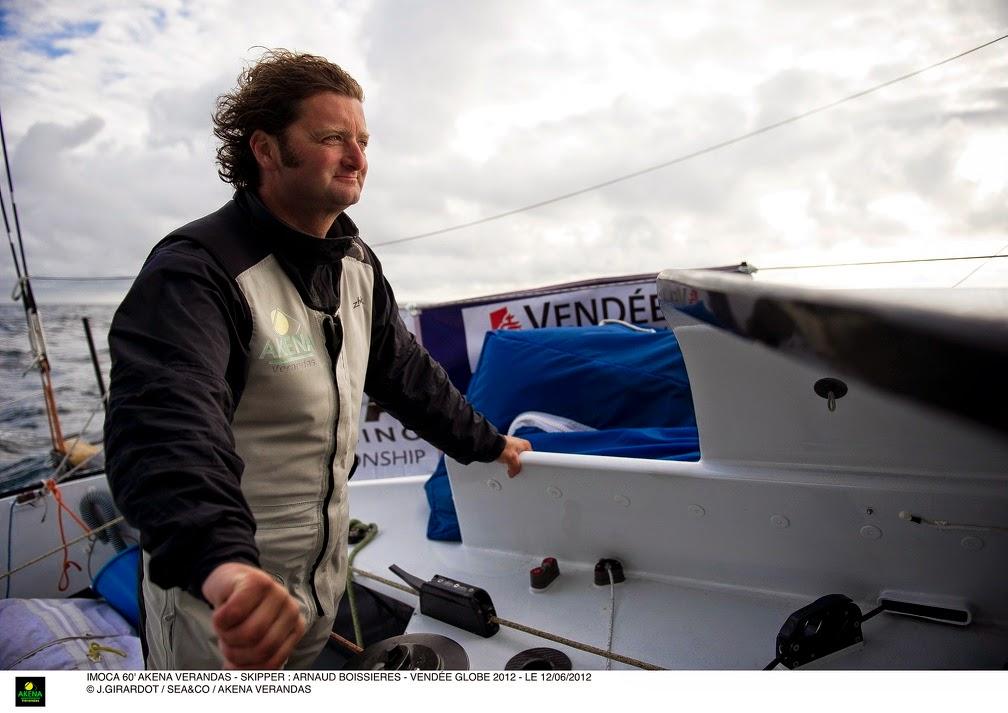 Arnaud Boissières sur la Route du Rhum en Class40.