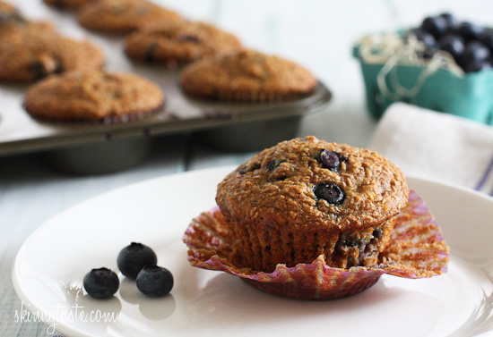 Blueberry+Coconut+Bran+Muffins 2 Honey Coconut Blueberry Bran Muffins
