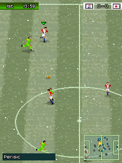 Screenshots of the Pro Evolution Soccer 2015 for java mobile, phone.