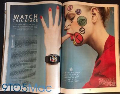 Apple Watch Muncul di Iklan Majalah Fesyen Inggris