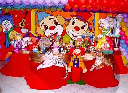 Decoracion de Fiestas Infantiles con Payasos, parte 1
