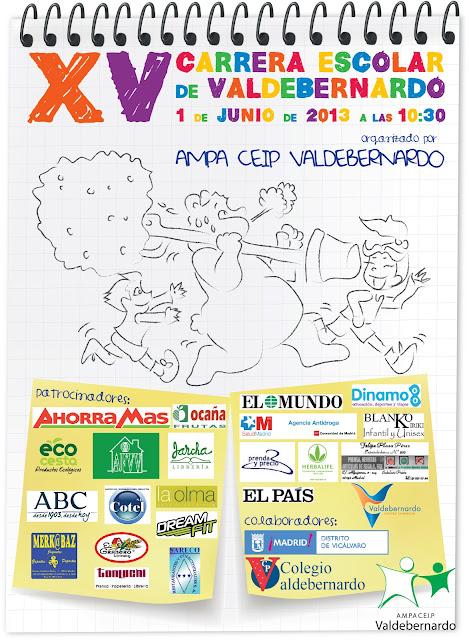 Carrera popular CEIP Valdebernardo 01 06 13