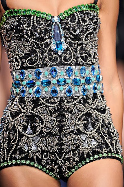 Black Dress With Stoned,Beads And Pearl